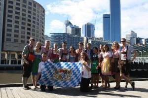 LMU Delegation @ Harvard WorldMUN  in front of Melbourne Skyline